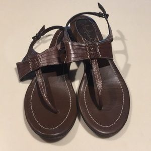 Cole Haan brown bow sandals